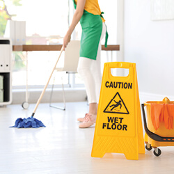 Use Wet Floor Signs